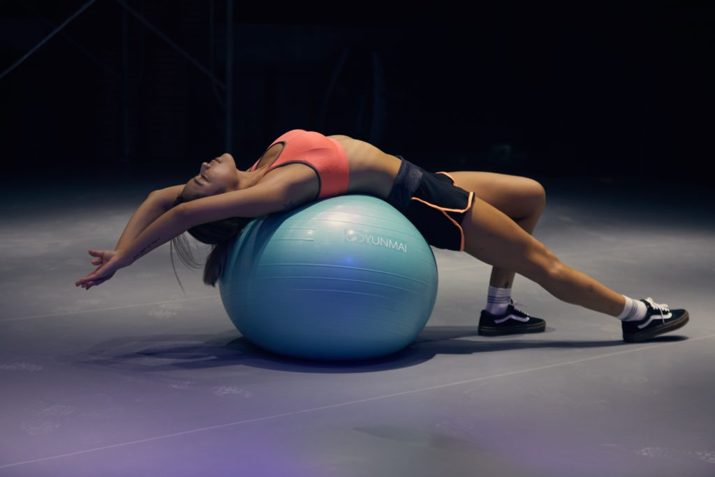 exercise at home with a medicine ball
